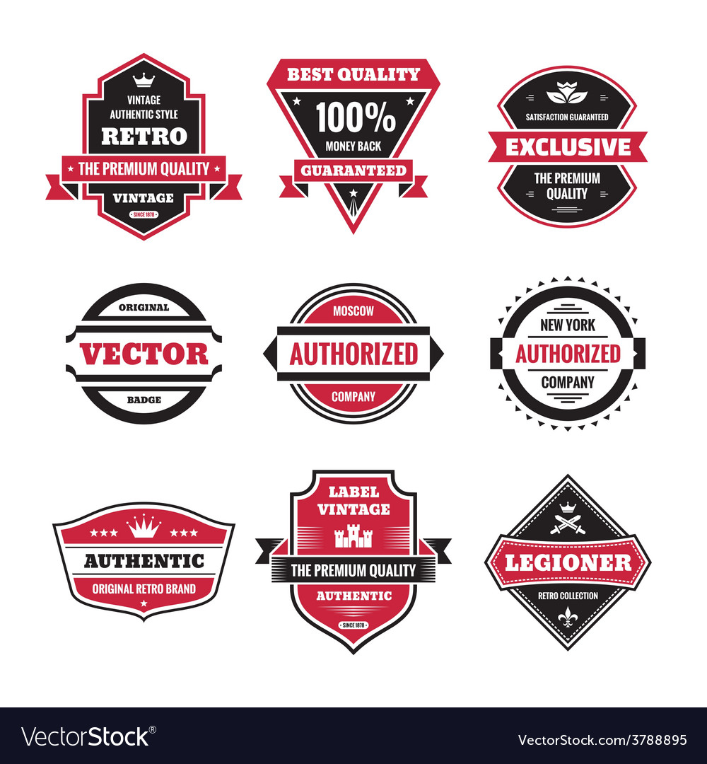 Graphic badges collection vector | Price: 1 Credit (USD $1)