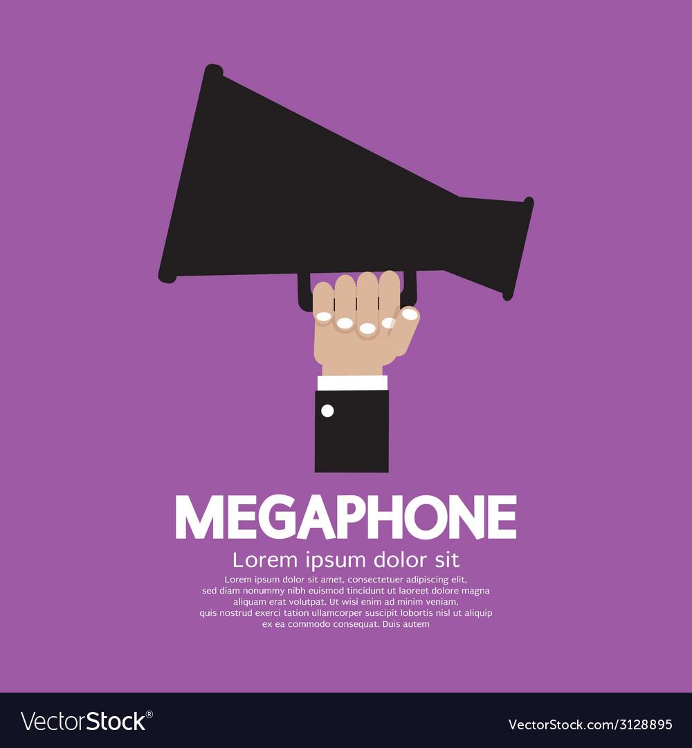 Megaphone in hand vector | Price: 1 Credit (USD $1)