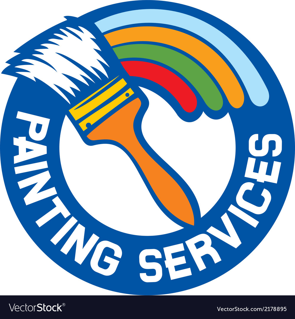 Painting services label vector | Price: 1 Credit (USD $1)