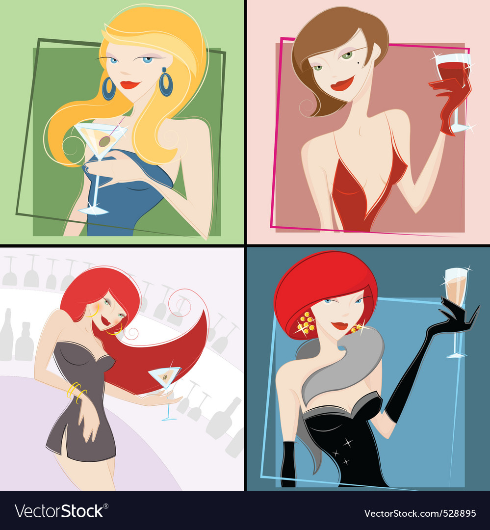 Party girls vector | Price: 3 Credit (USD $3)