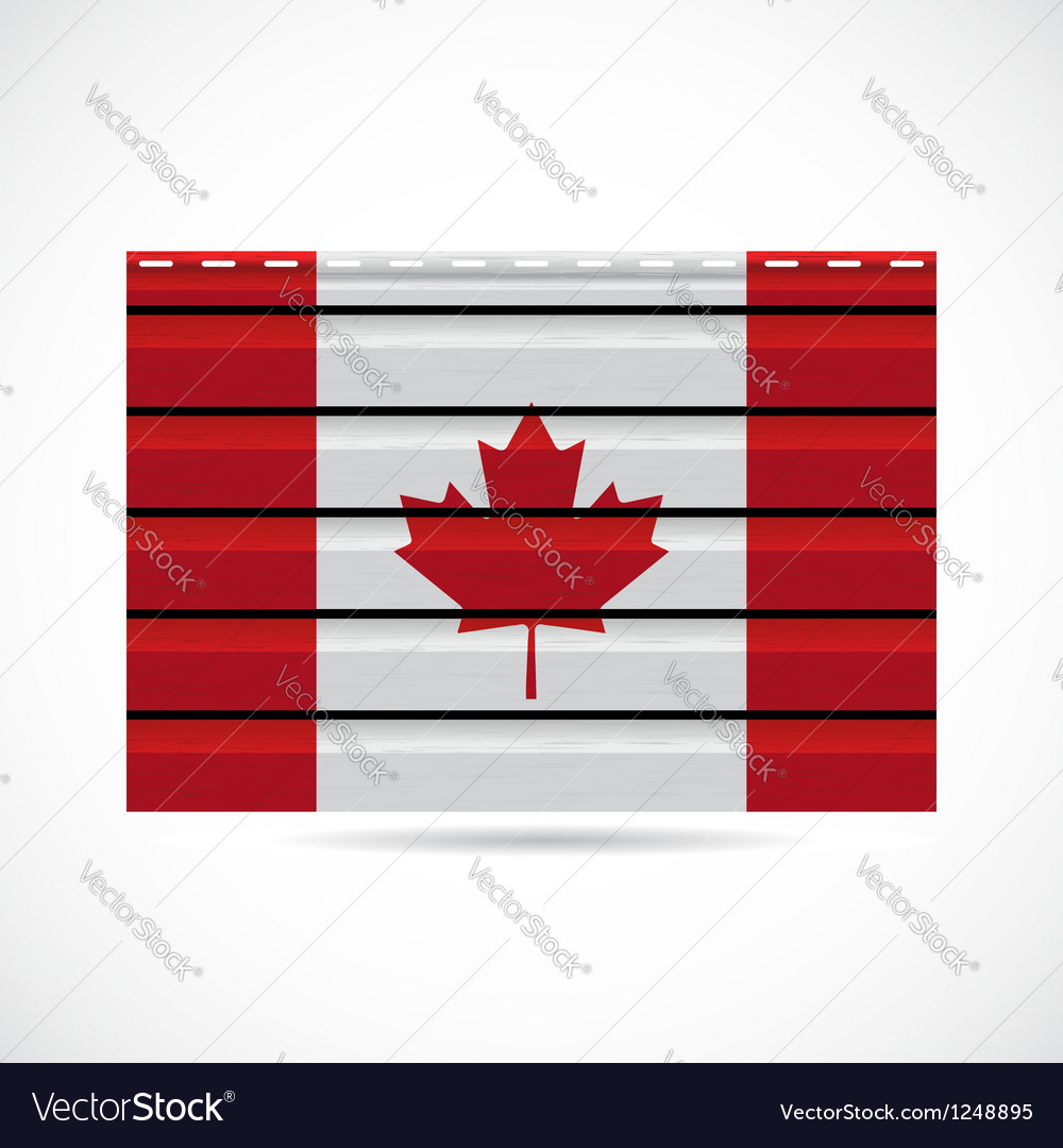Siding produce company icon canada vector | Price: 1 Credit (USD $1)