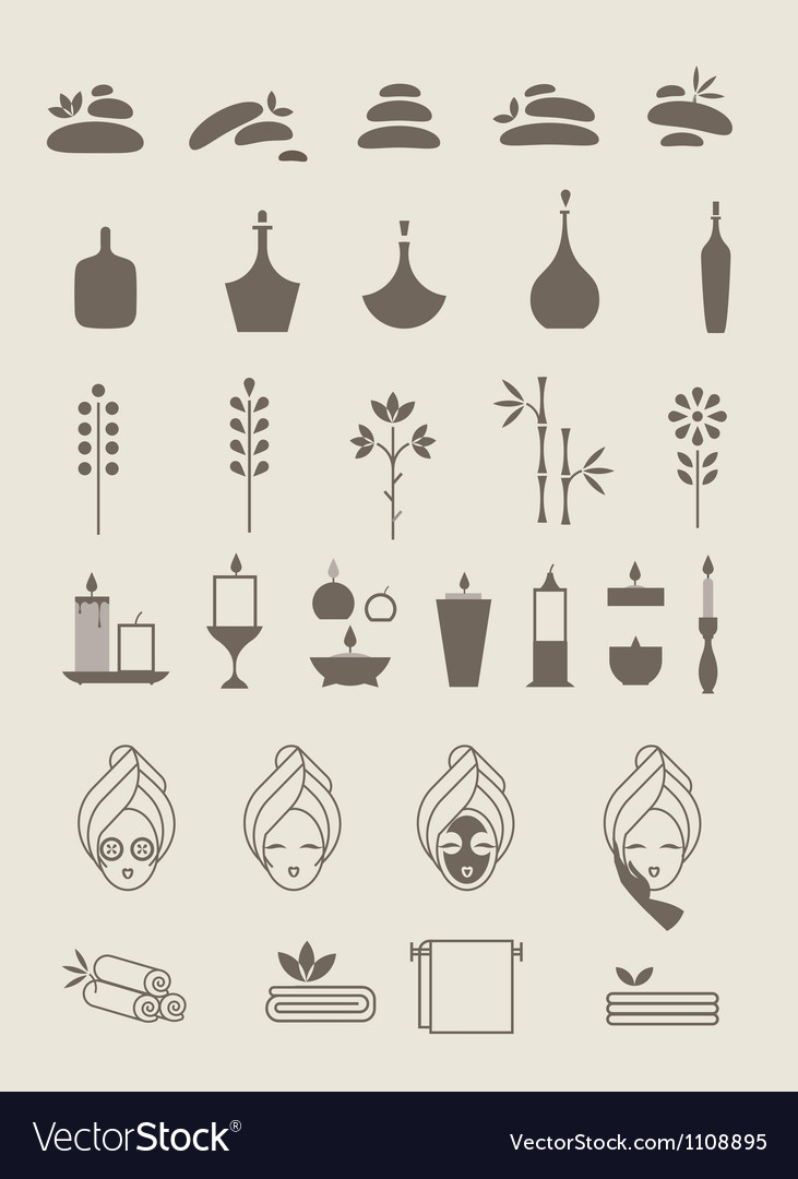 Spa icons vector   Price: 1 Credit (USD $1)