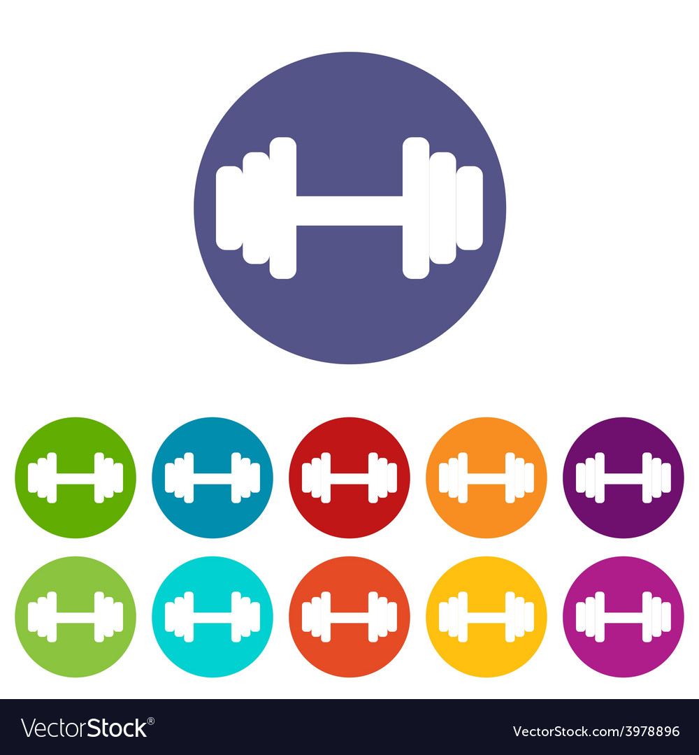 Barbell flat icon vector | Price: 1 Credit (USD $1)