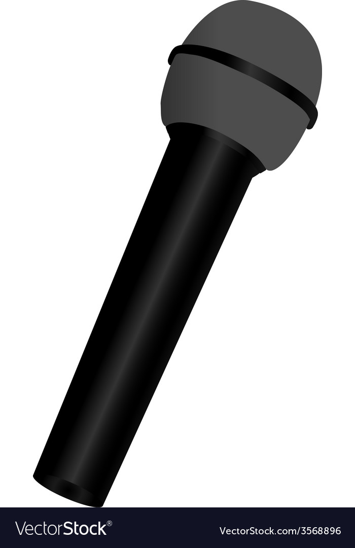 Black microphone vector | Price: 1 Credit (USD $1)