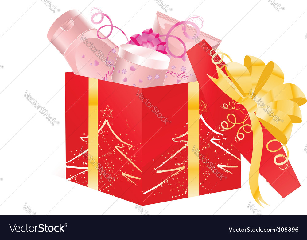 Christmas open gift vector | Price: 1 Credit (USD $1)