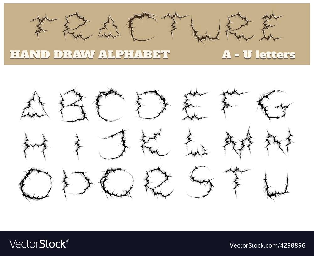 Fracture alphabet part one vector | Price: 1 Credit (USD $1)