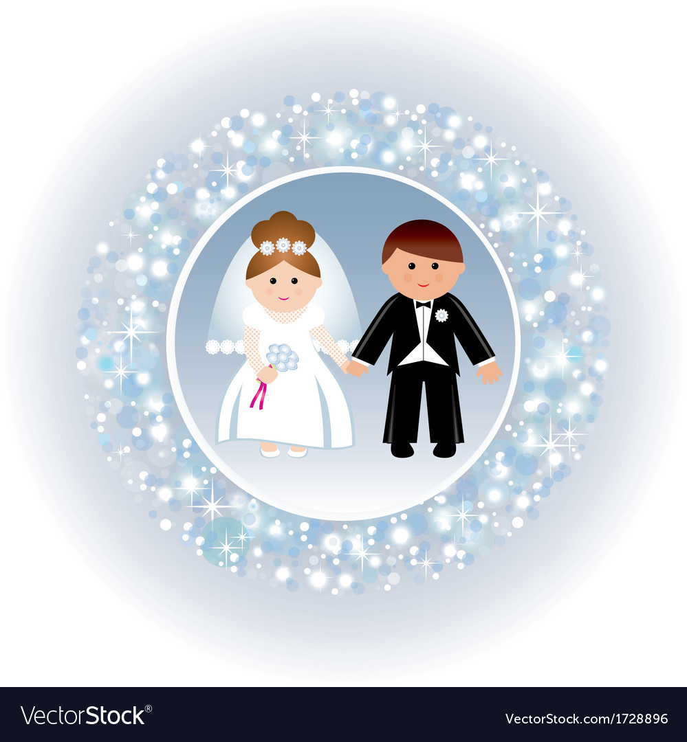 Greeting card with a wedding vector | Price: 1 Credit (USD $1)