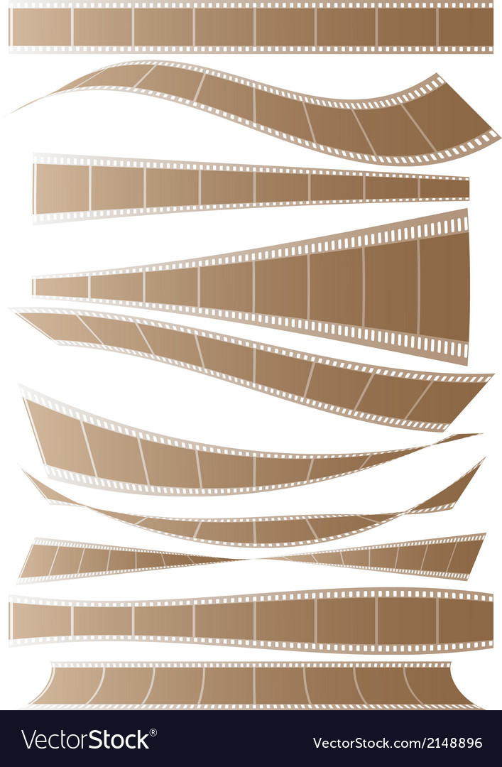 Set of curved films background vector | Price: 1 Credit (USD $1)