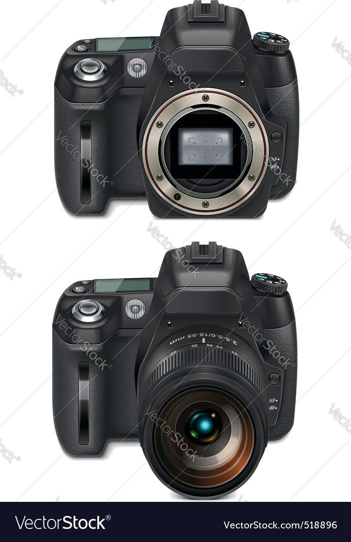 slr camera xxl icon vector | Price: 3 Credit (USD $3)