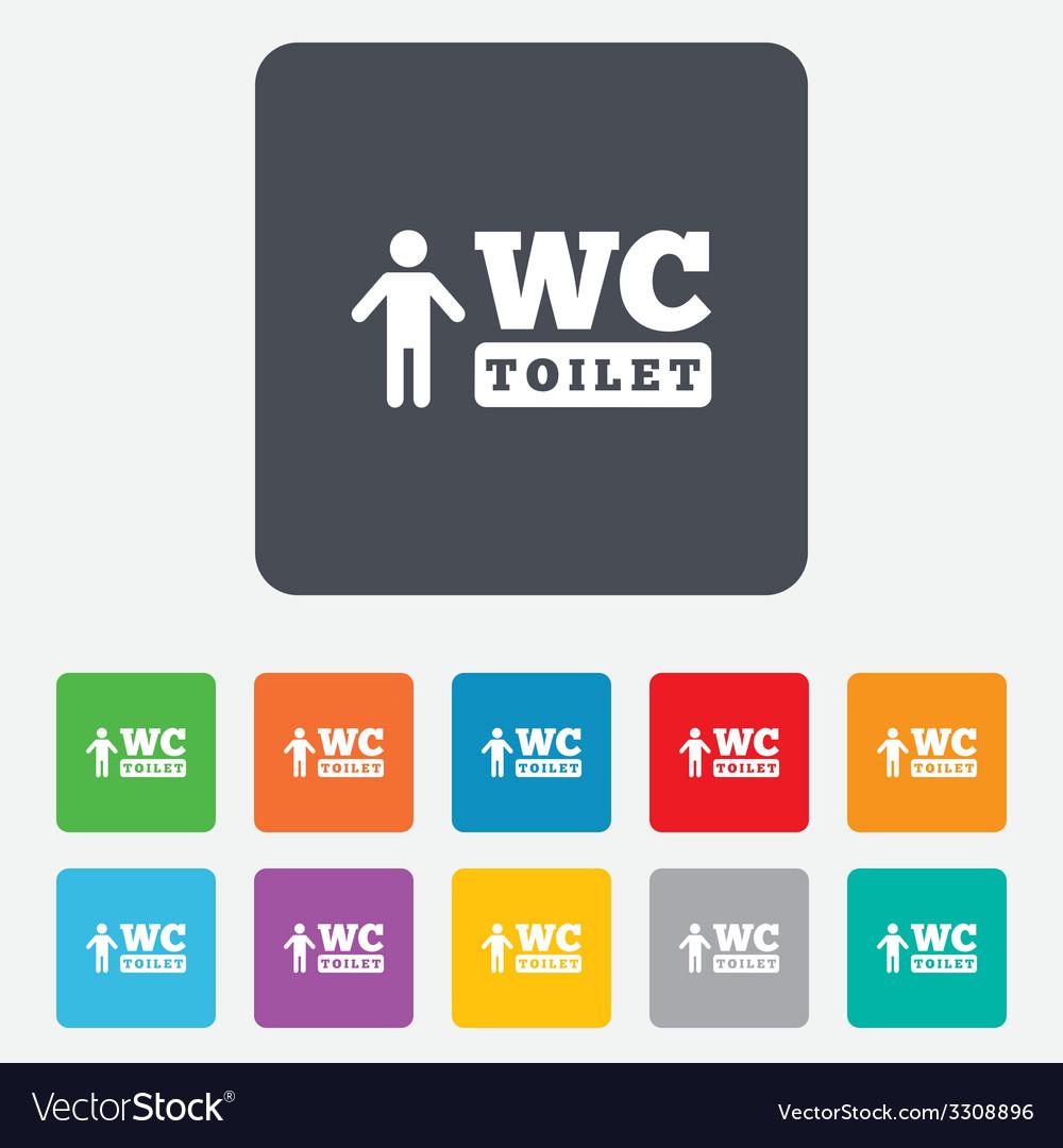 Wc men toilet sign icon restroom symbol vector | Price: 1 Credit (USD $1)