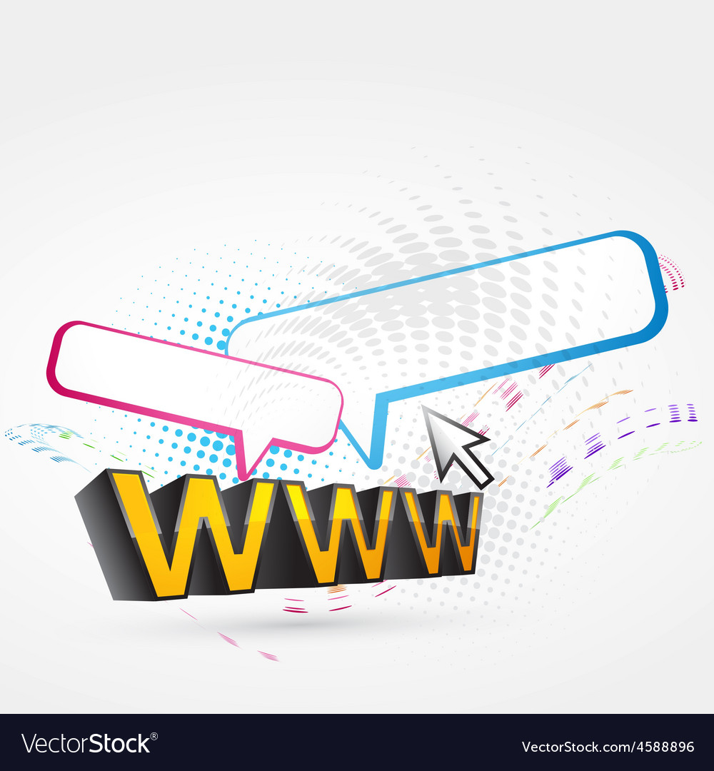 Www text vector | Price: 1 Credit (USD $1)