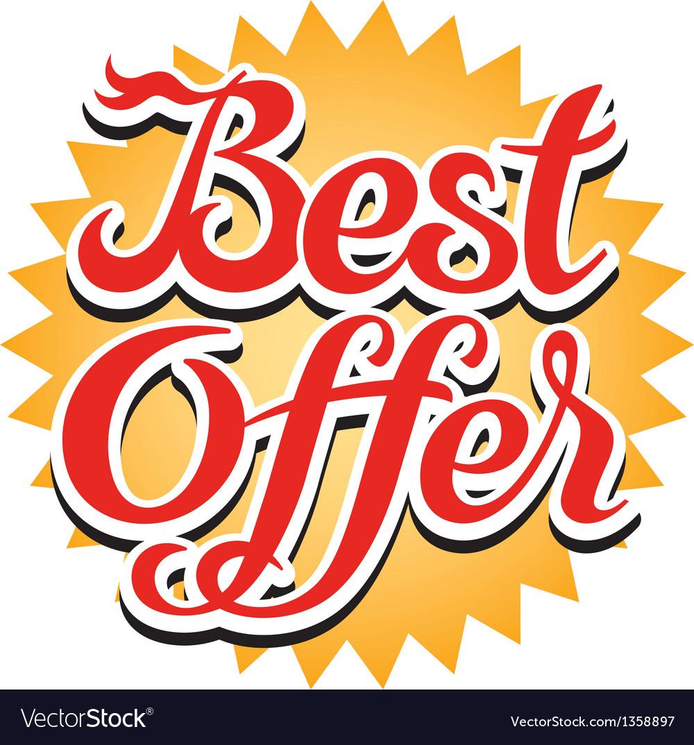 Best offer sticker vector | Price: 1 Credit (USD $1)