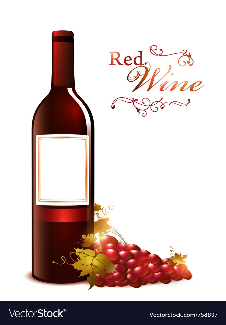Bottle of red wine vector | Price: 3 Credit (USD $3)