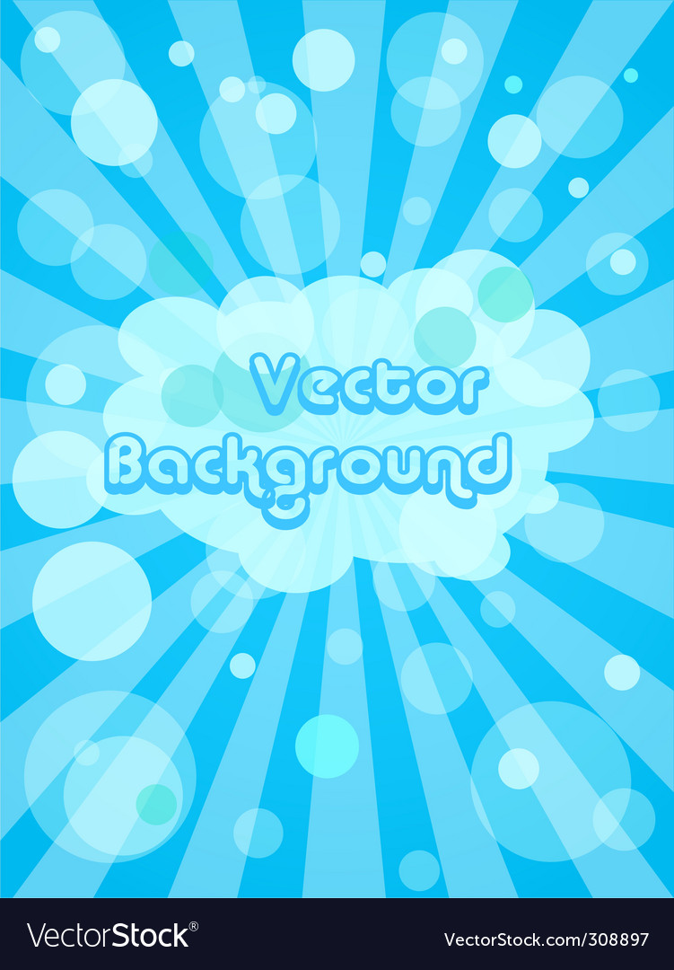 Bubble background vector | Price: 1 Credit (USD $1)