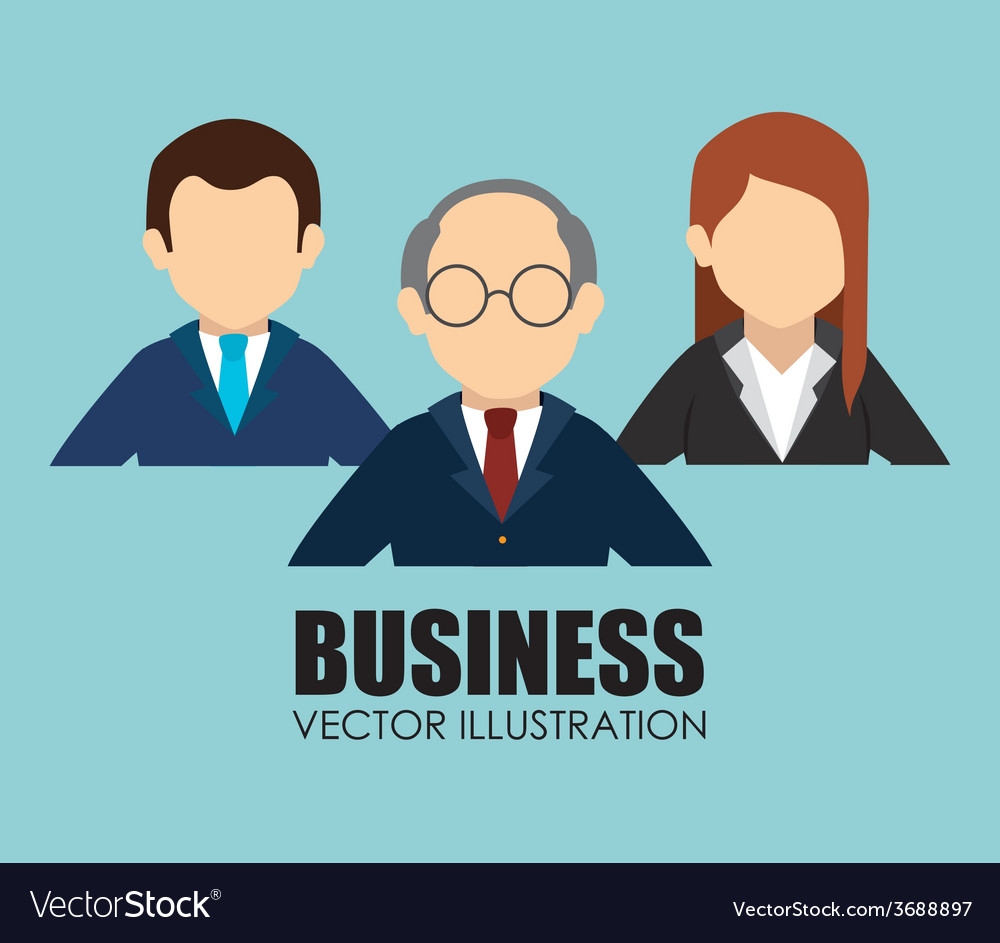Business design over blue background vector | Price: 1 Credit (USD $1)