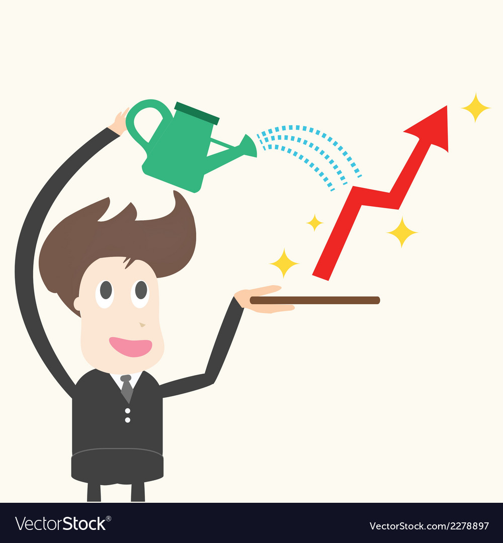 Businessman wateringbusiness success vector | Price: 1 Credit (USD $1)