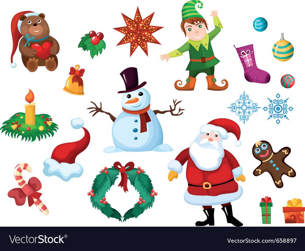 Christmas eslement set vector   Price: 3 Credit (USD $3)