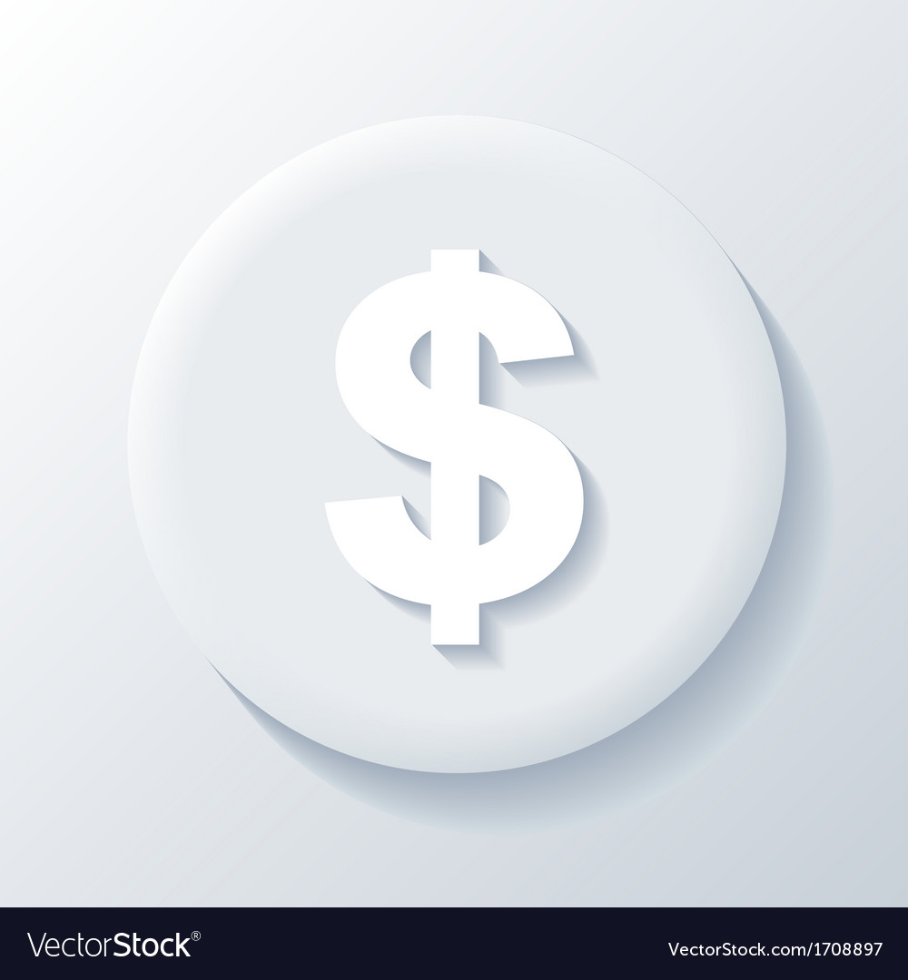 Dollar 3d paper icon vector | Price: 1 Credit (USD $1)
