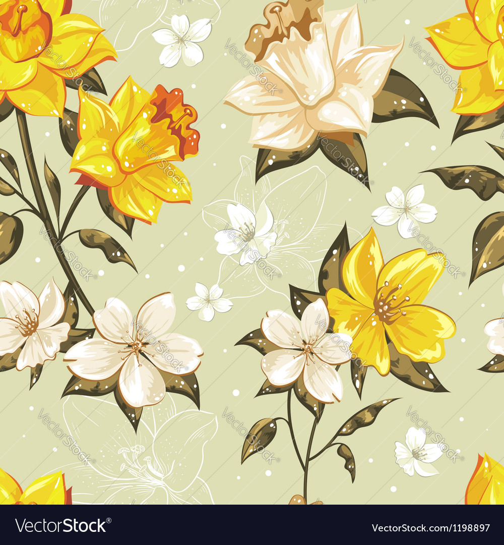 Elegant stylish spring floral seamless pattern vector | Price: 1 Credit (USD $1)