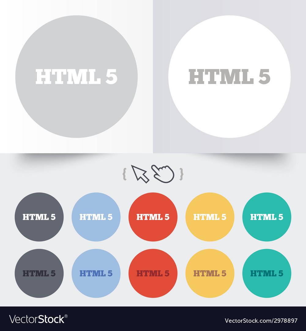 Html5 sign icon new markup language symbol vector | Price: 1 Credit (USD $1)
