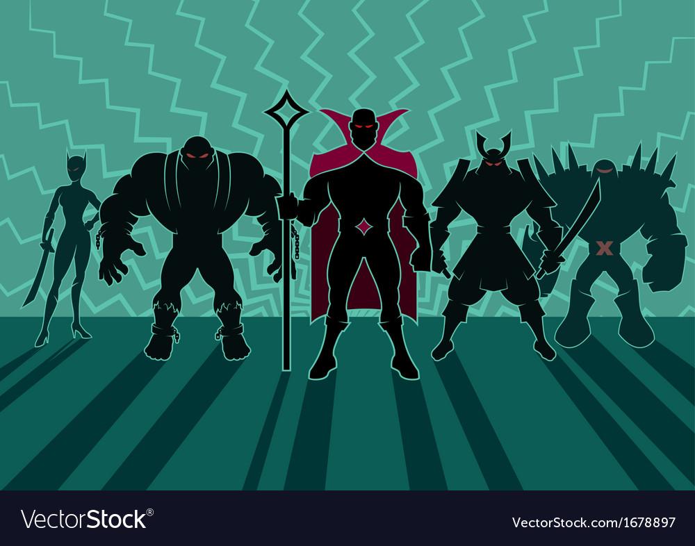 Supervillain team vector | Price: 1 Credit (USD $1)