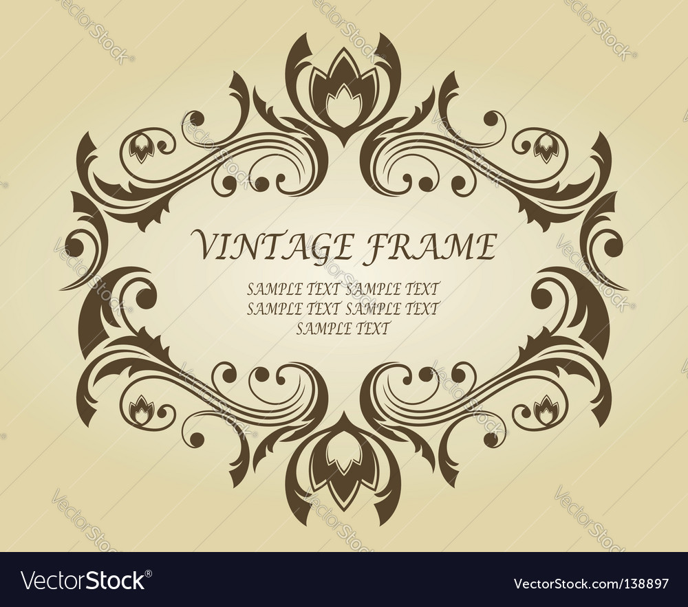 Vintage frame in victorian style vector | Price: 1 Credit (USD $1)