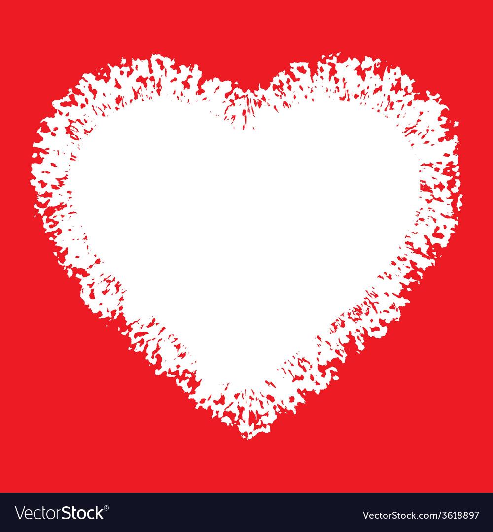 White hand drawn grunge heart vector | Price: 1 Credit (USD $1)