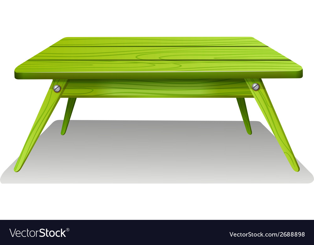 A green table vector | Price: 1 Credit (USD $1)