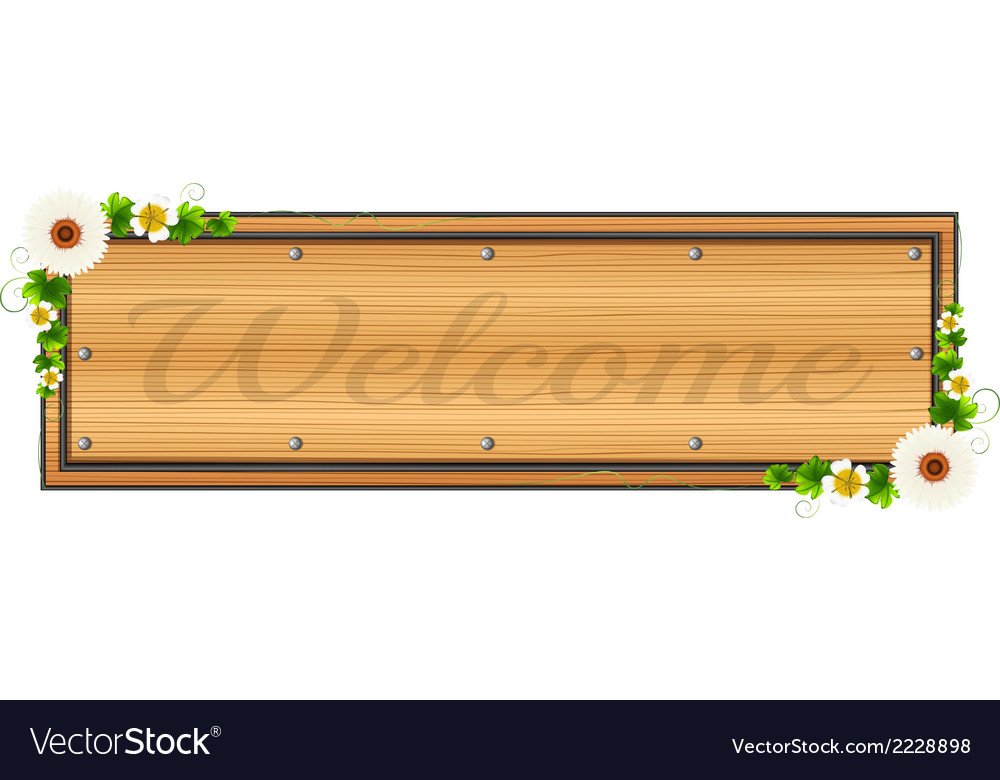 A welcome signage vector | Price: 1 Credit (USD $1)
