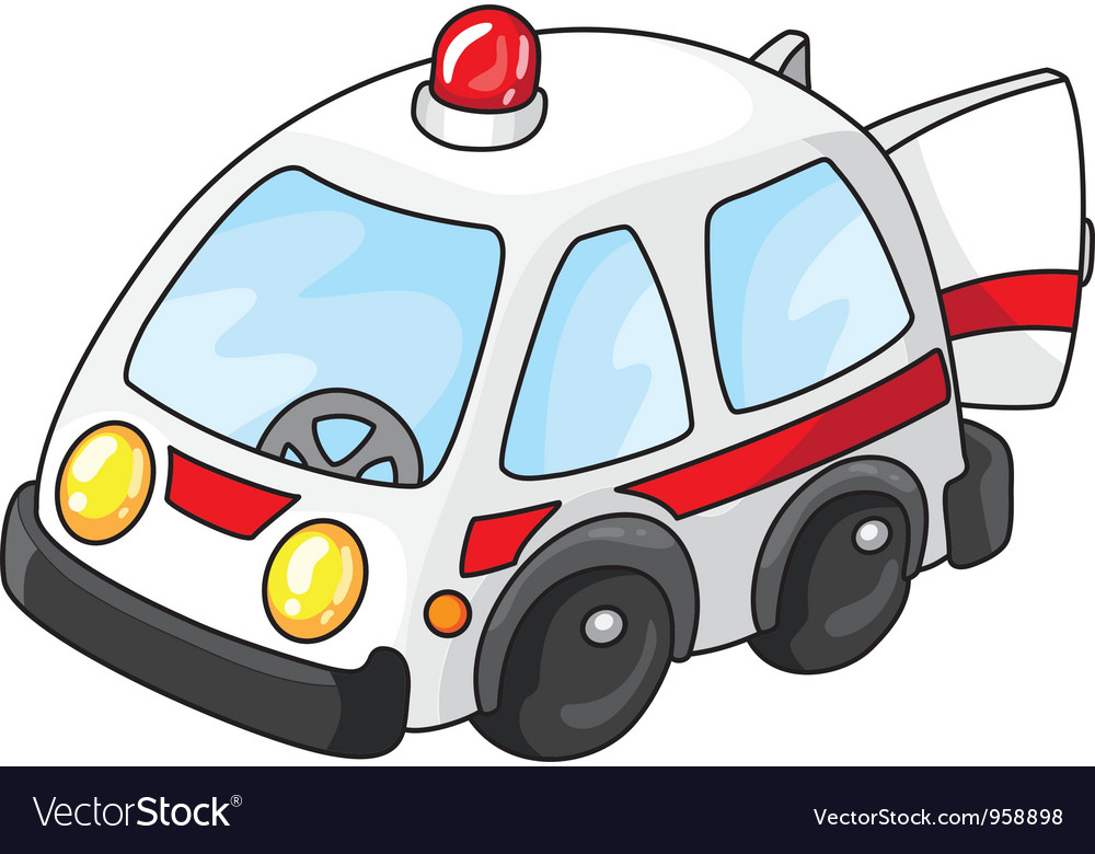Ambulance car with open doors vector | Price: 1 Credit (USD $1)