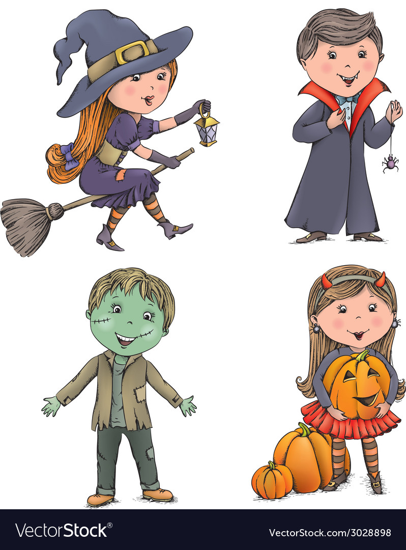 Halloween kids vector | Price: 1 Credit (USD $1)