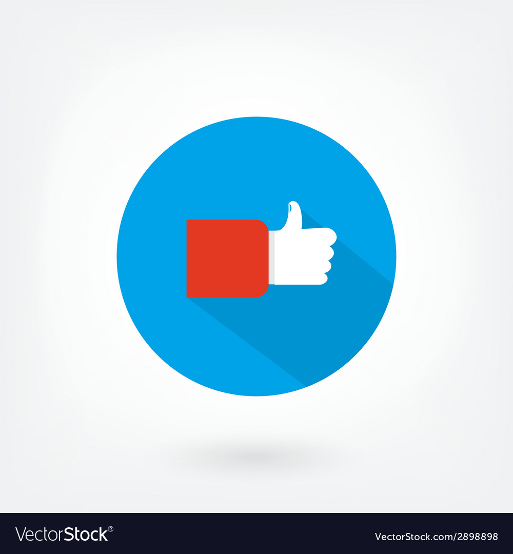 Like icon on blue background vector | Price: 1 Credit (USD $1)