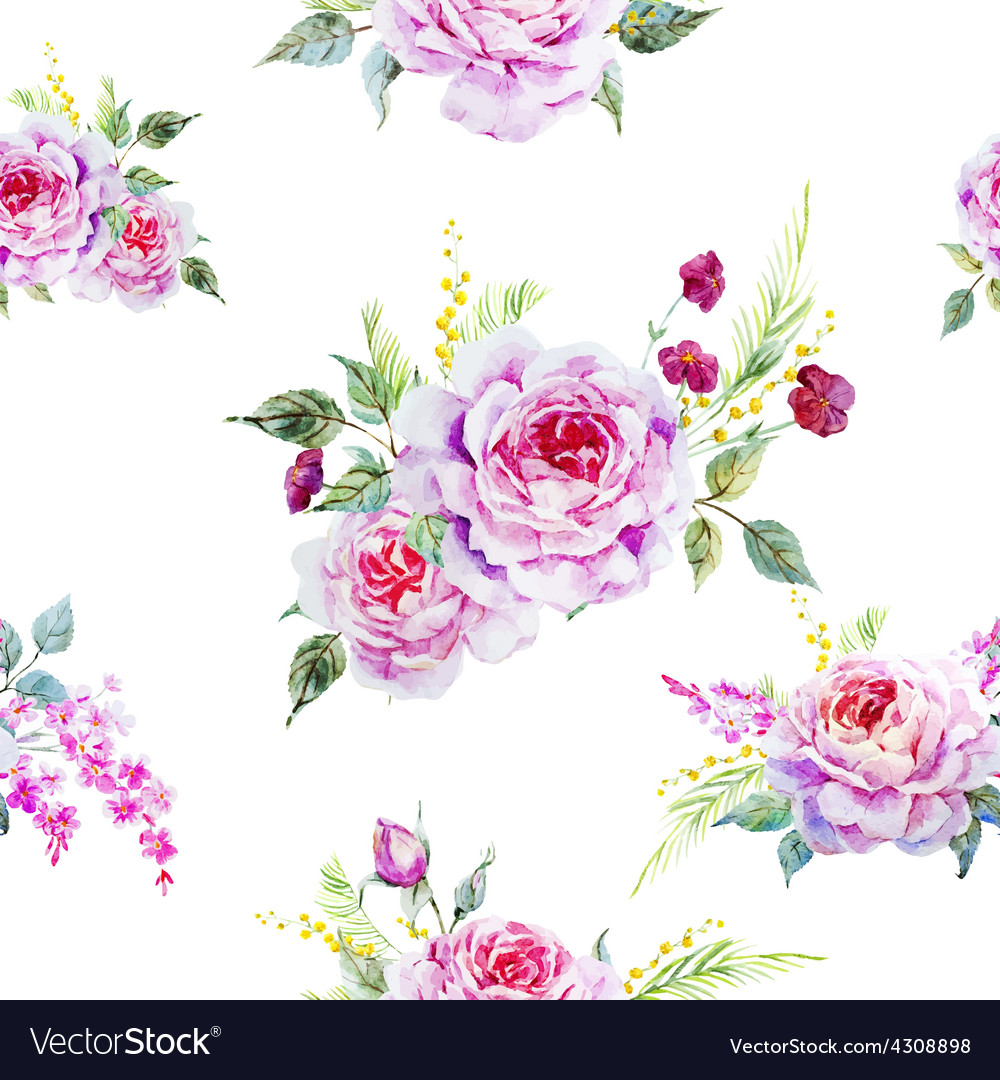 Nice rose pattern vector | Price: 1 Credit (USD $1)