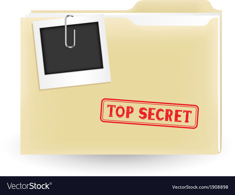 Secret file vector | Price: 1 Credit (USD $1)