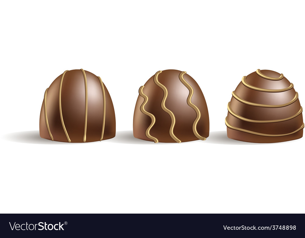 Set of chocolate candies on the white vector | Price: 1 Credit (USD $1)