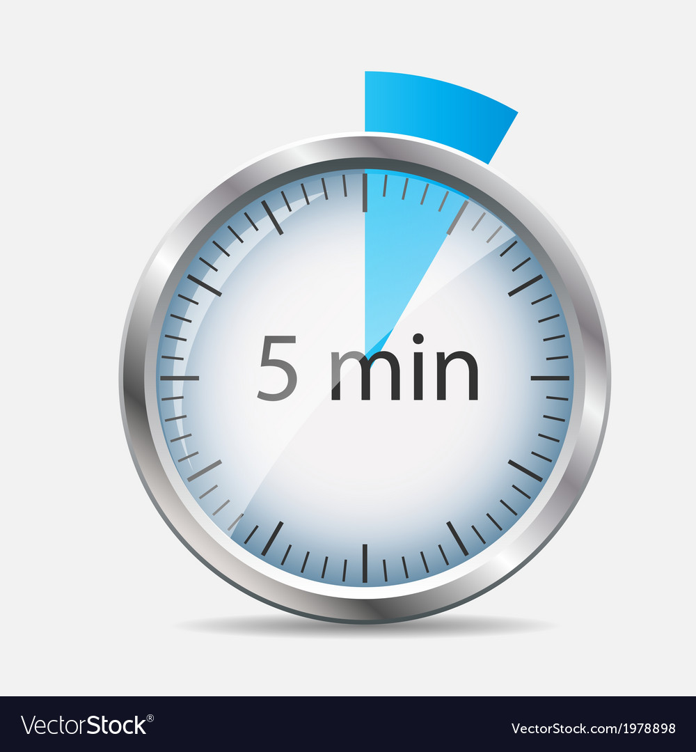 Silver watch designation 5 minutes vector | Price: 1 Credit (USD $1)