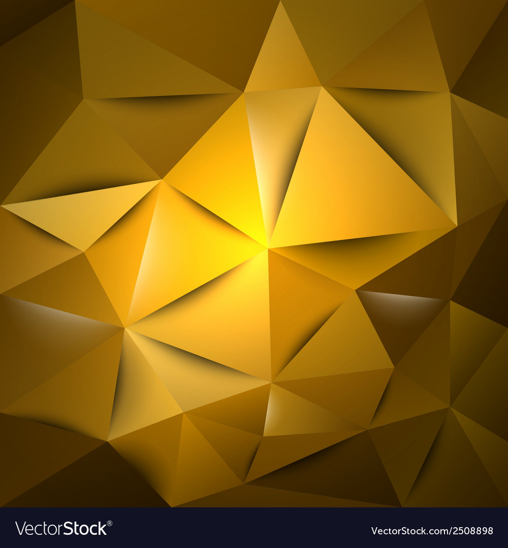 Triangles gold s vector | Price: 1 Credit (USD $1)