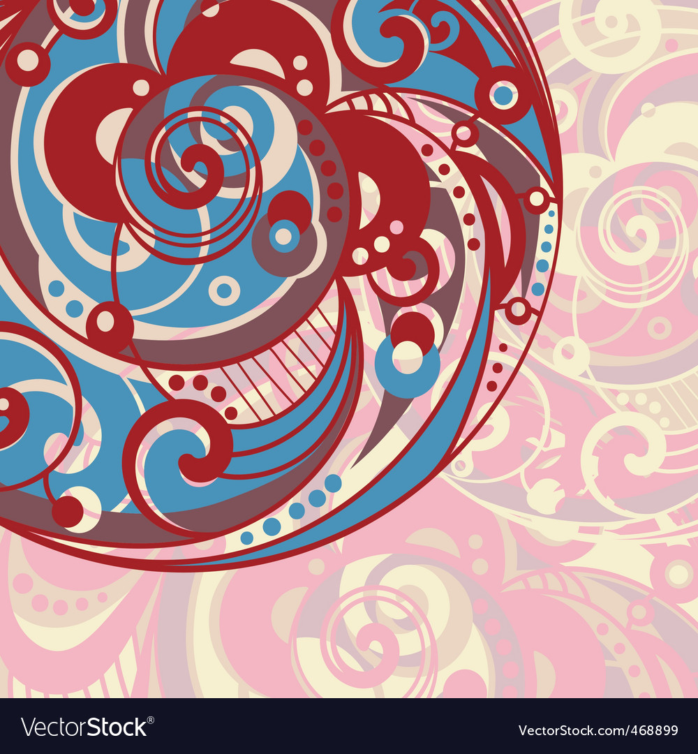 Abstract bright background with spiral vector | Price: 1 Credit (USD $1)