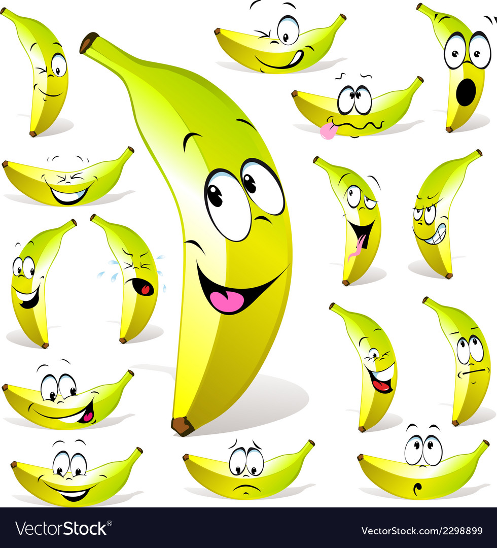 Banana cartoon vector | Price: 1 Credit (USD $1)