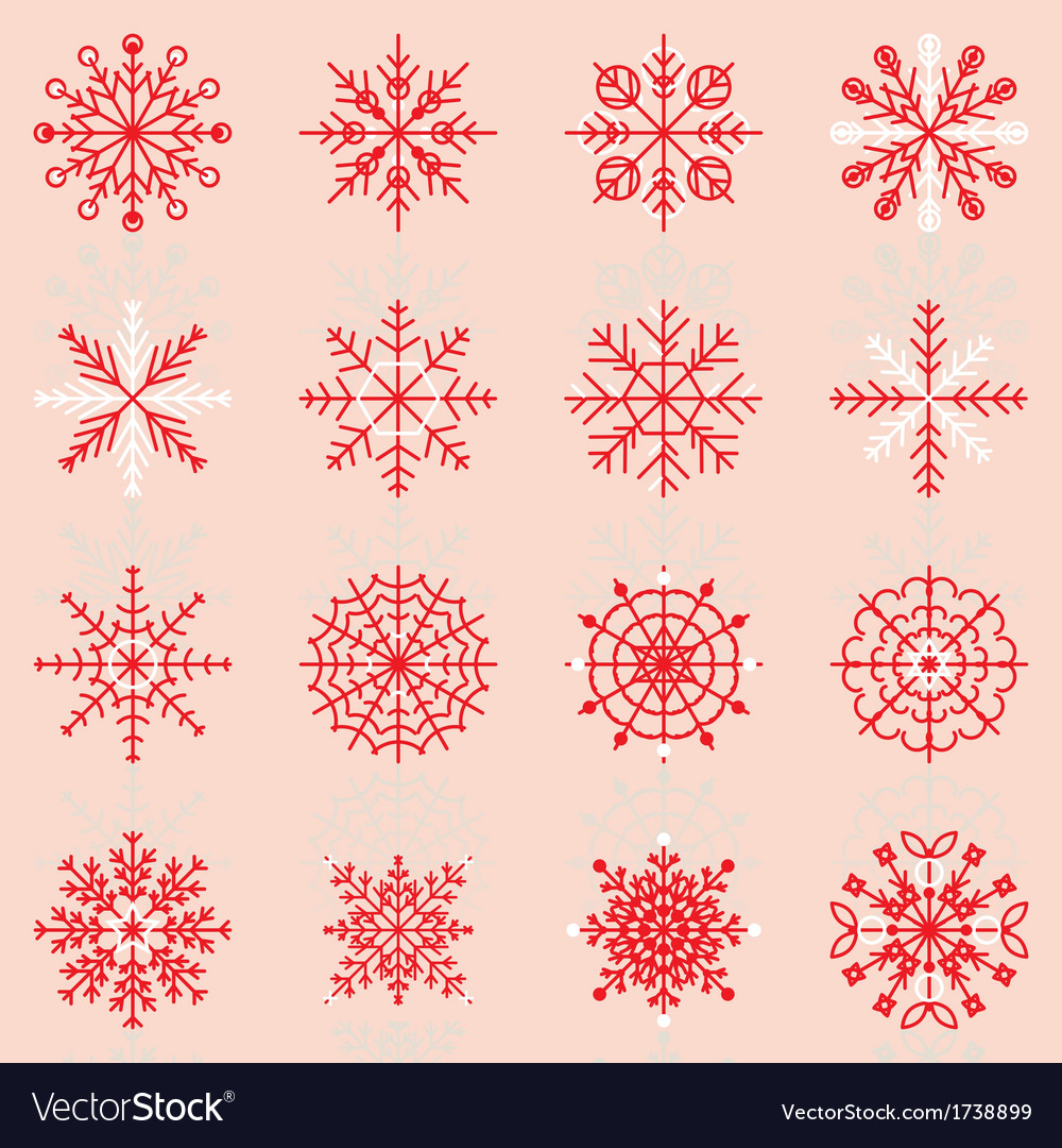 Create snowflake icons with reflect vector | Price: 1 Credit (USD $1)