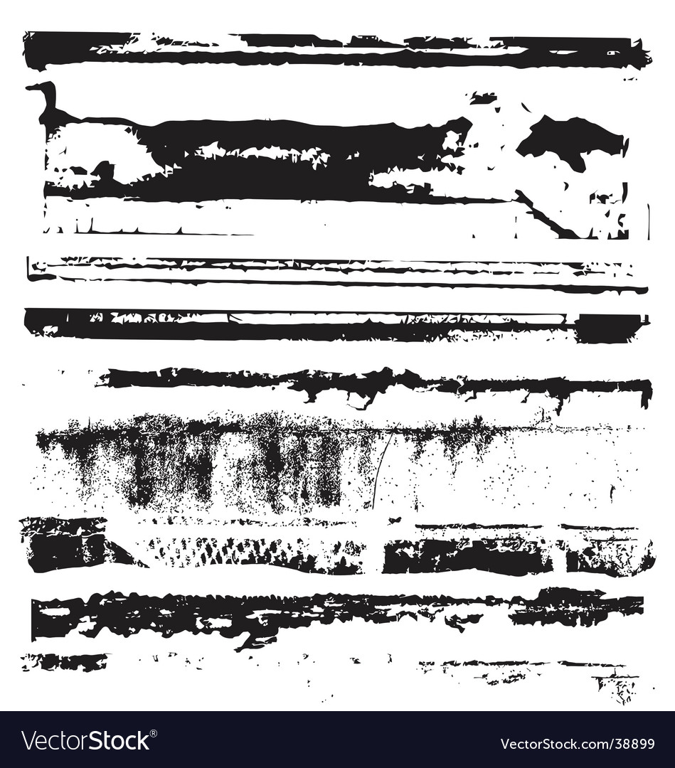 Distressed edges vector