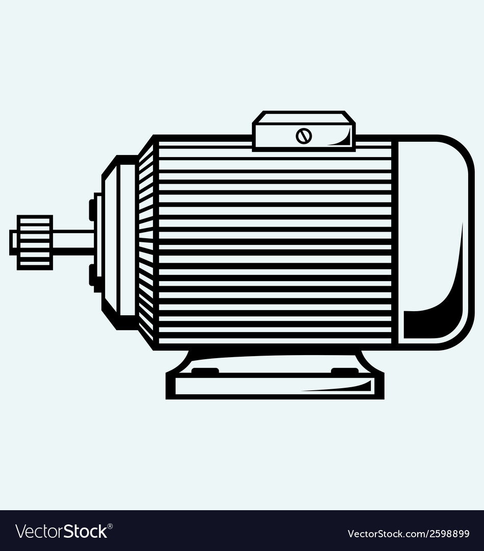 Electric motor vector | Price: 1 Credit (USD $1)