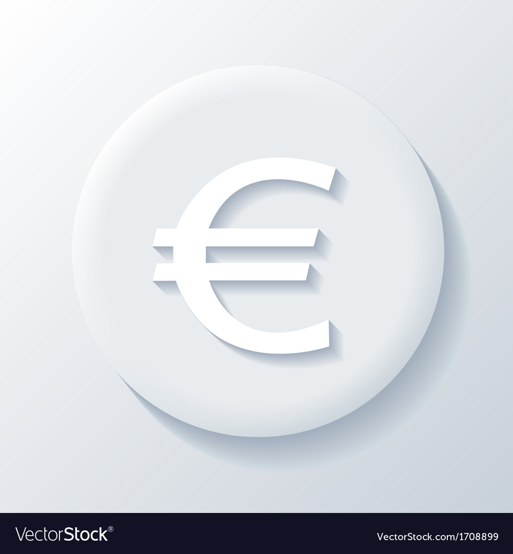Euro 3d paper icon vector | Price: 1 Credit (USD $1)