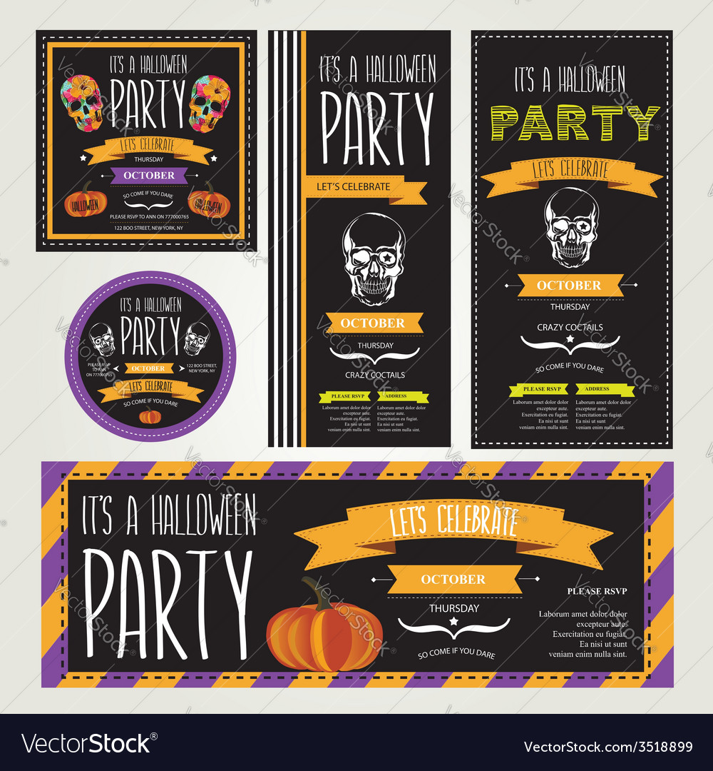 Halloween party vector | Price: 1 Credit (USD $1)