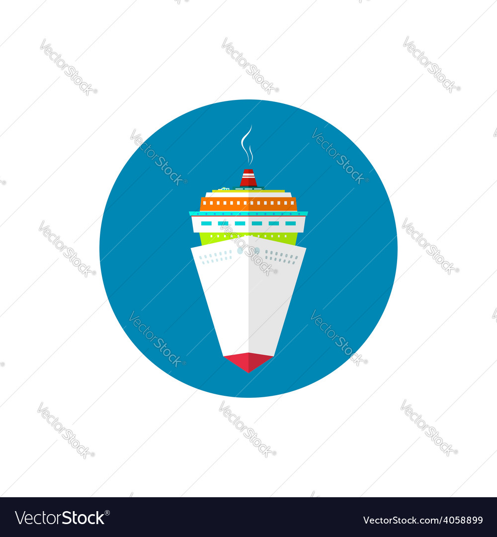 Icon passenger cruise ship vector | Price: 1 Credit (USD $1)