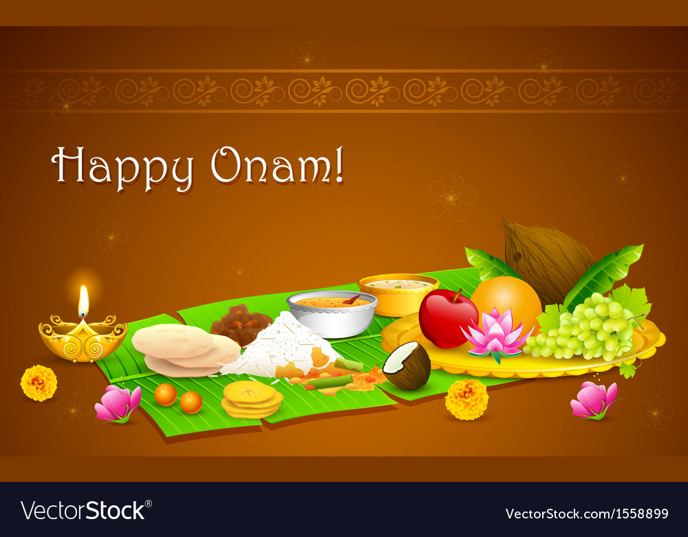 Onam feast vector | Price: 1 Credit (USD $1)