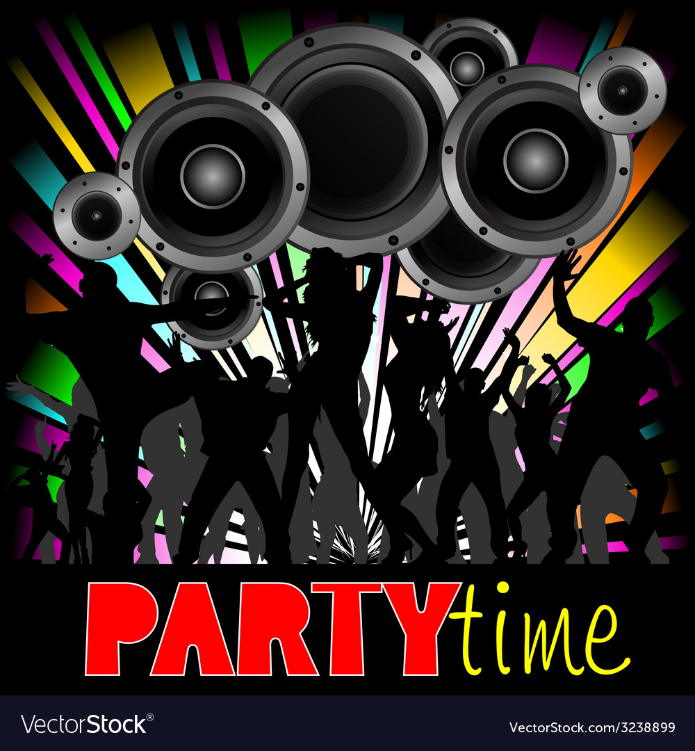 Party time with young people vector | Price: 1 Credit (USD $1)