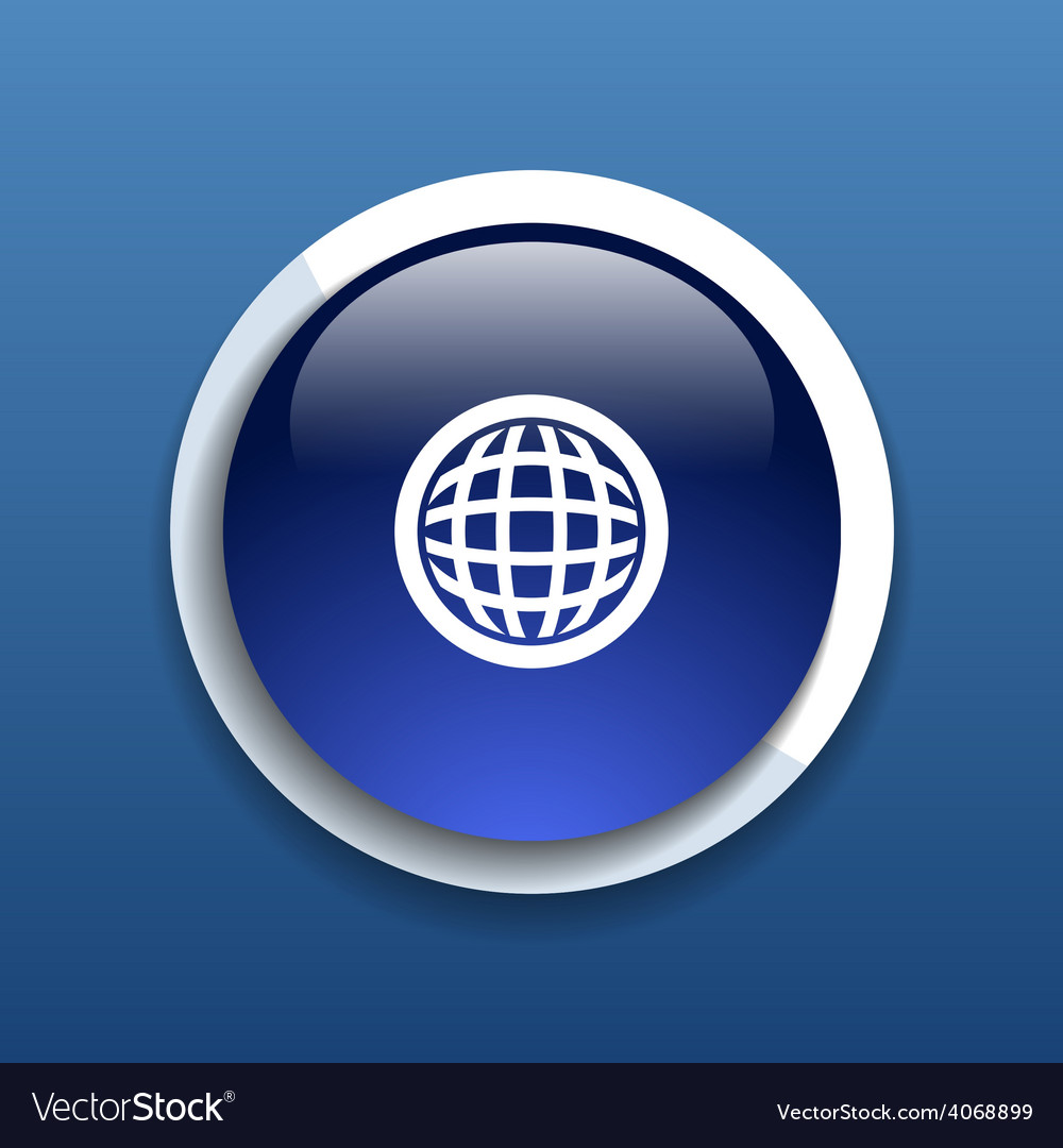 Planet icon network map earth business concept vector | Price: 1 Credit (USD $1)