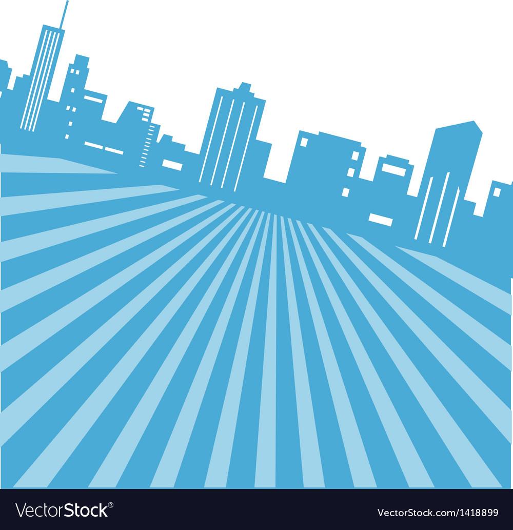 Retro cityscape background vector   Price: 1 Credit (USD $1)