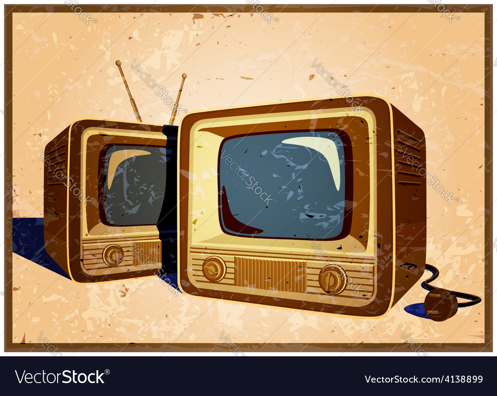Retro tv vector | Price: 3 Credit (USD $3)
